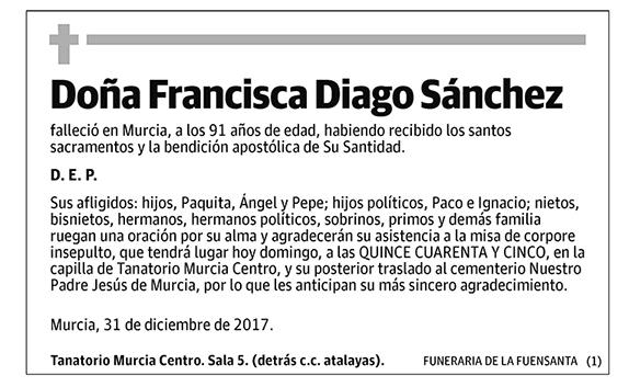 Francisca Diago Sánchez