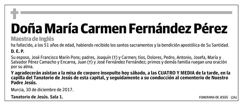 María Carmen Fernández Pérez