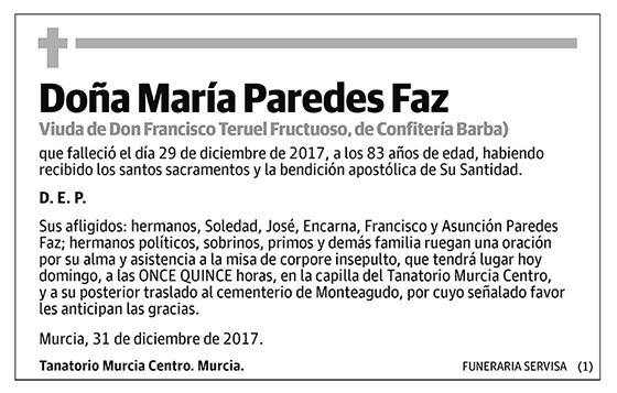 María Paredes Faz