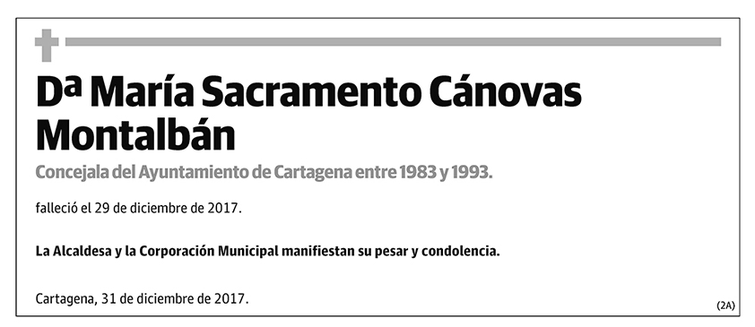 María Sacramento Cánovas Montalbán