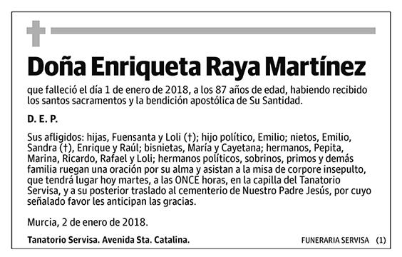Enriqueta Raya Martínez