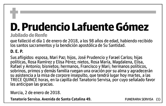 Prudencio Lafuente Gómez