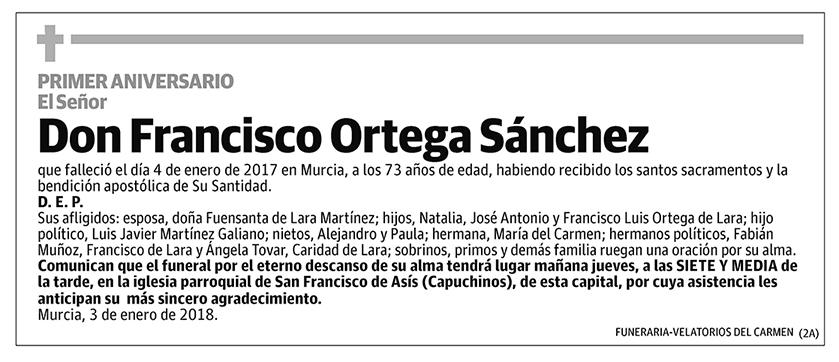 Francisco Ortega Sánchez