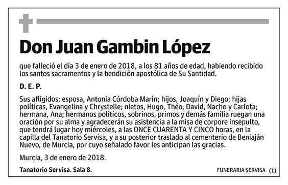 Juan Gambin López
