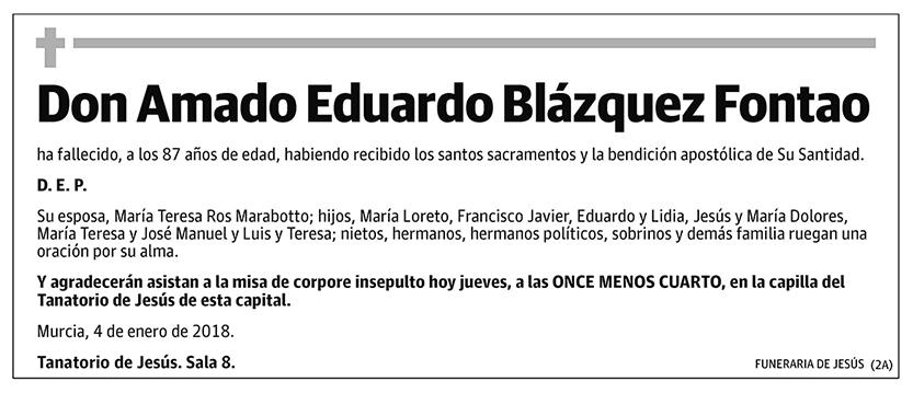 Amado Eduardo Blázquez Fontao