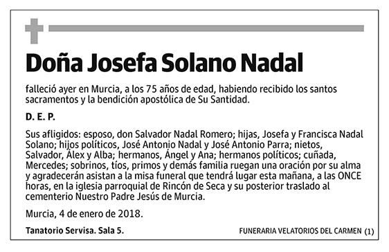 Josefa Solano Nadal