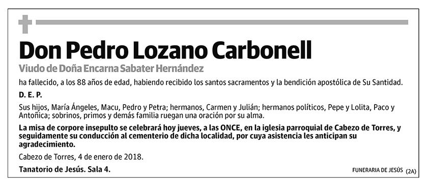 Pedro Lozano Carbonell