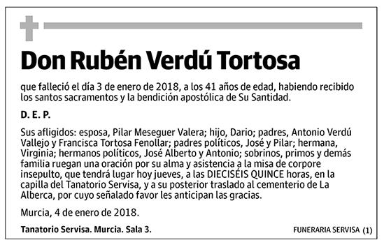 Rubén Verdú Tortosa