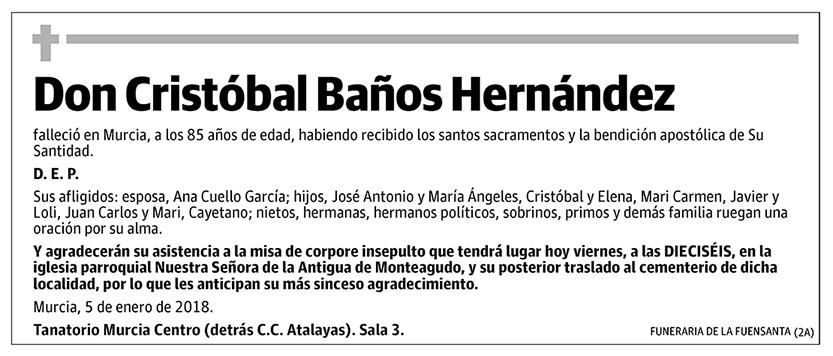 Cristobal Baños Hernández
