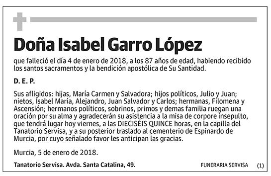 Isabel Garro López