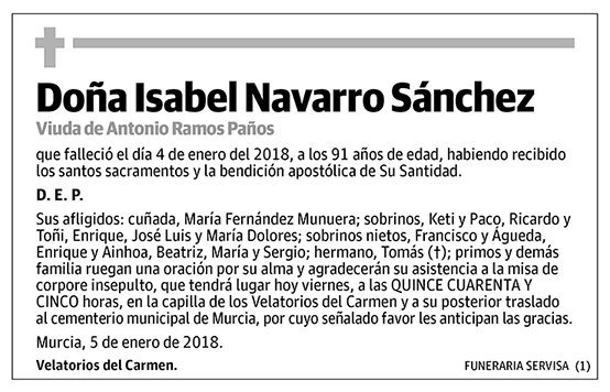 Isabel Navarro Sánchez