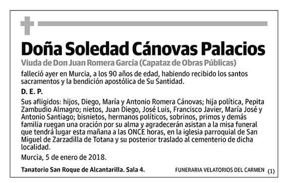 Soledad Cánovas Palacios