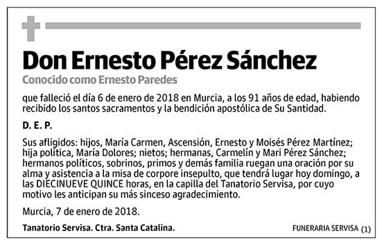 Ernesto Pérez Sánchez