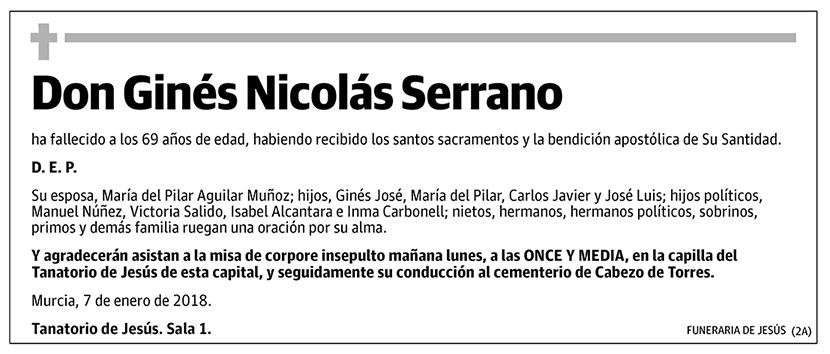 Ginés Nicolás Serrano