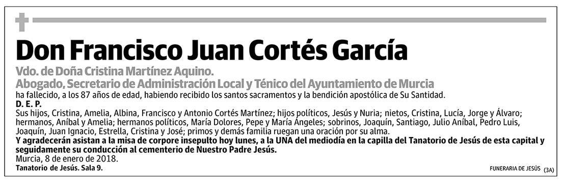 Francisco Juan Cortés García