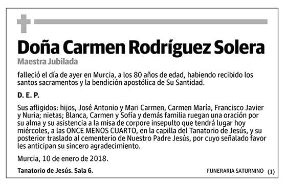 Carmen Rodríguez Solera