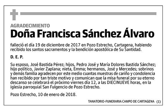 Francisca Sánchez Álvaro