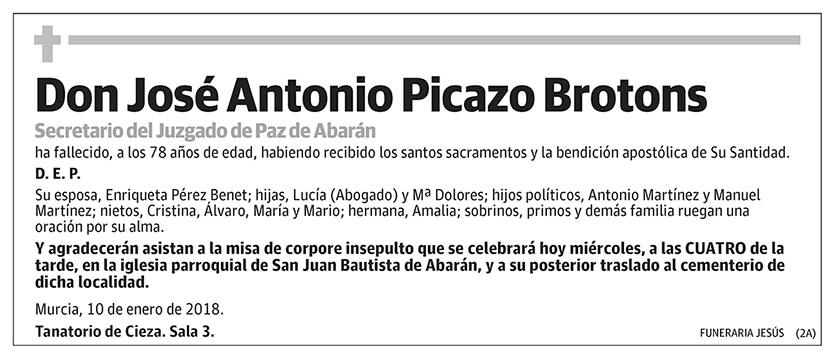 José Antonio Picazo Brotons