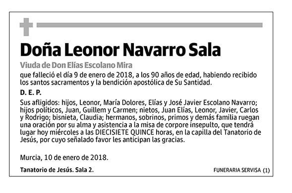 Leonor Navarro Sala