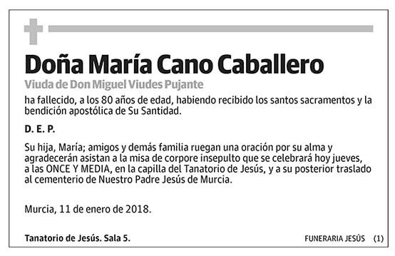 María Cano Caballero