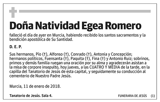Natividad Egea Romero