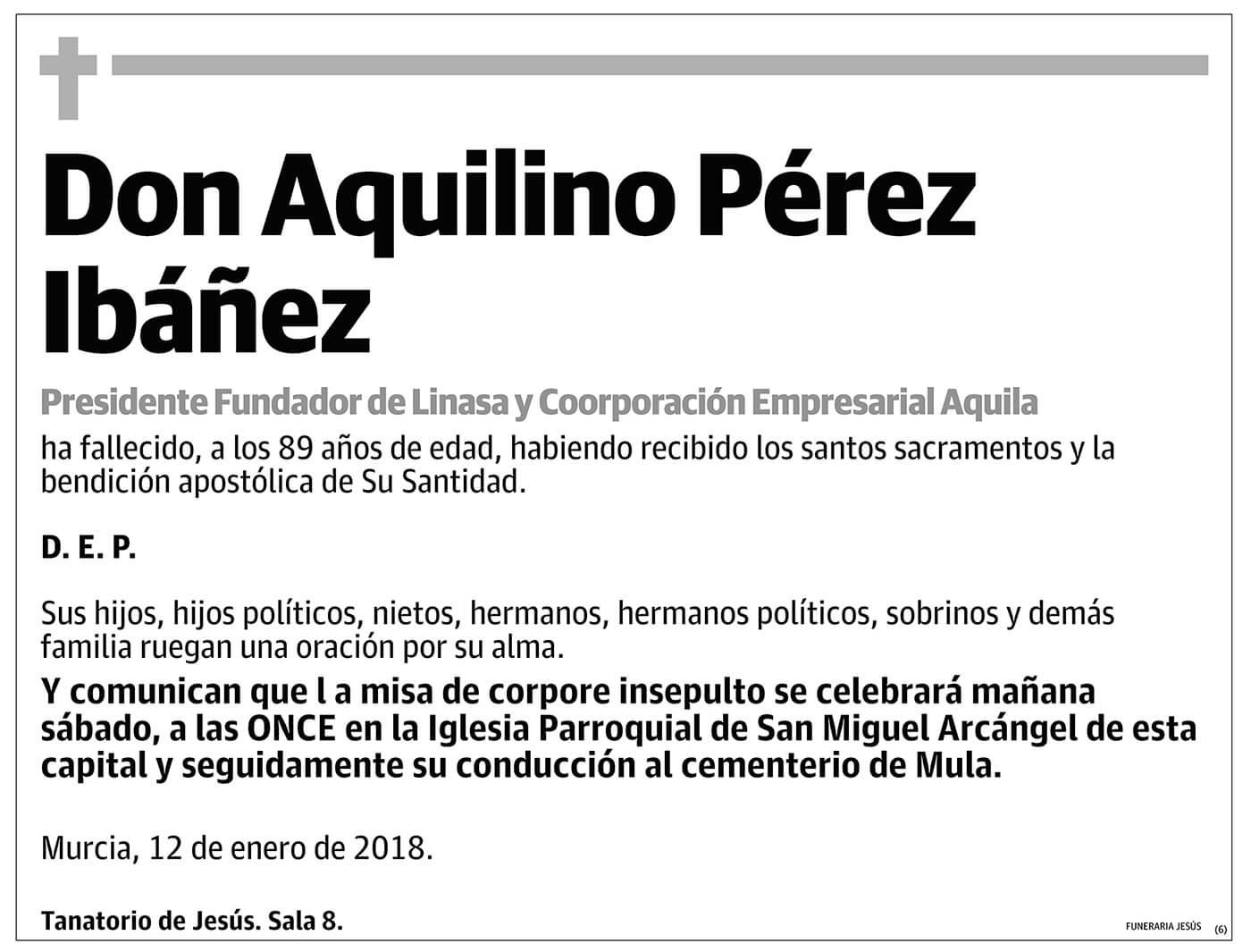 Aquilino Pérez Ibáñez