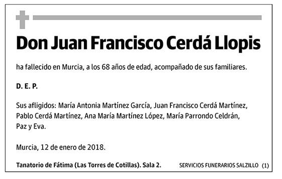 Juan Francisco Cerdá Llopis