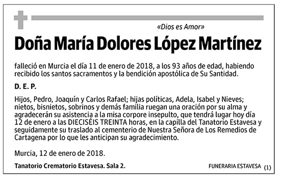 María Dolores López Martínez