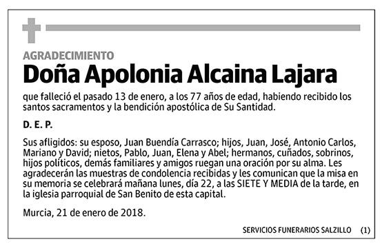 Apolonia Alcaina Lajara