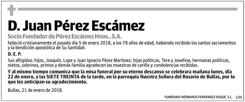Juan Pérez Escámez