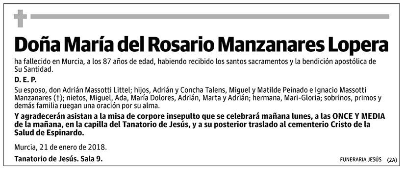 María del Rosario Manzanares Lopera