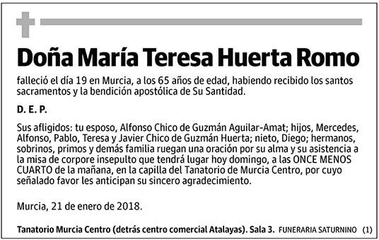 María Teresa Huerta Romo