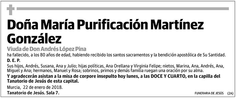 María Purificación Martínez González