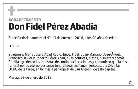 Fidel Pérez Abadía
