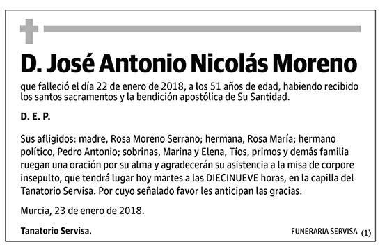 José Antonio Nicolás Moreno