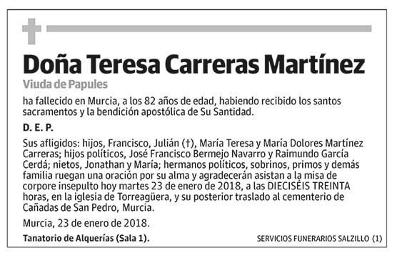 Teresa Carreras Martínez