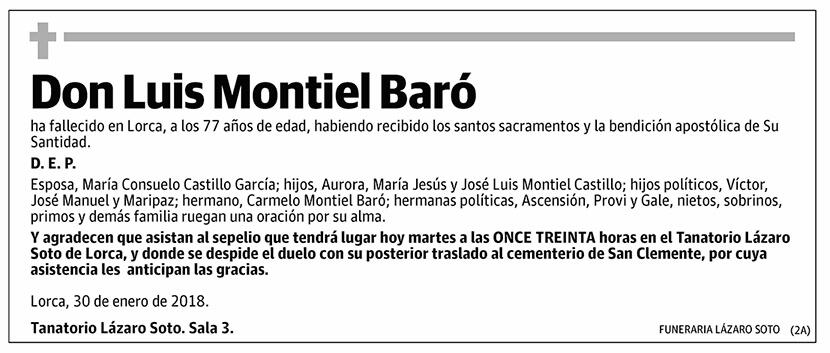 Luis Montiel Baró