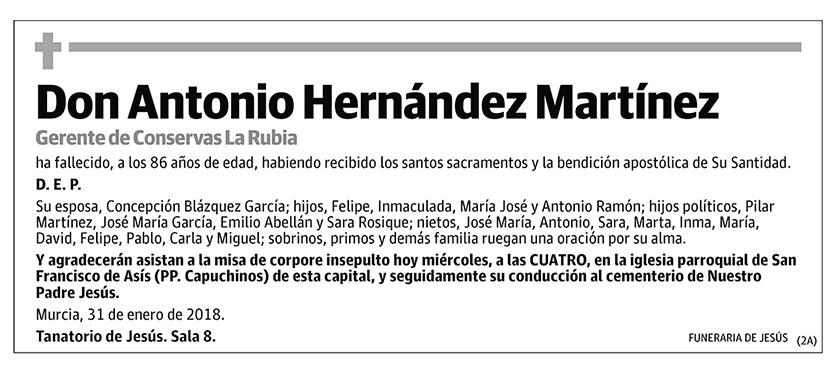 Antonio Hernández Martínez