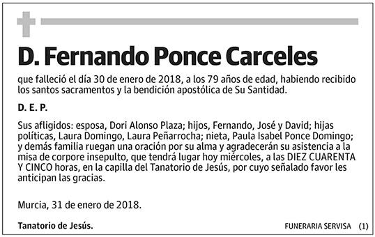 Fernando Ponce Carceles
