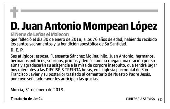 Juan Antonio Mompean López