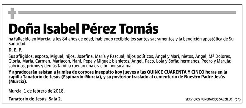 Isabel Pérez Tomás