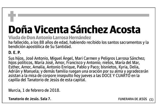 Vicenta Sánchez Acosta