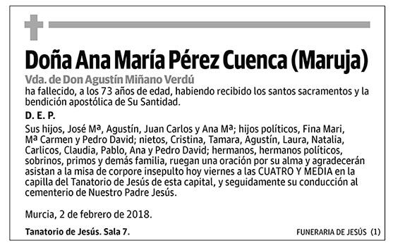Ana María Pérez Cuenca (Maruja)