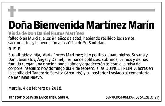 Bienvenida Martínez Marín