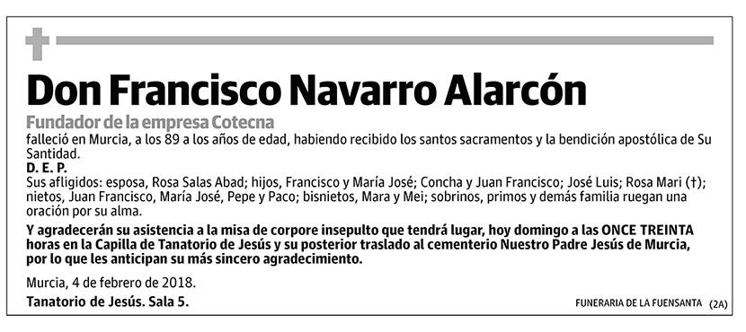 Francisco Navarro Alarcón