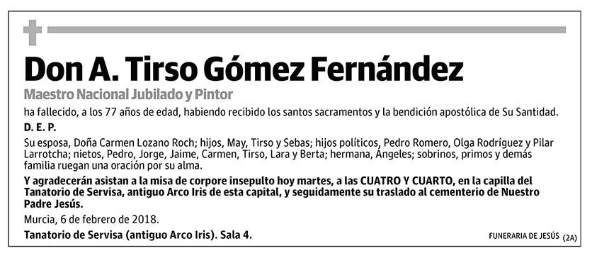 A. Tirso Gómez Fernández