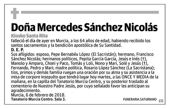 Mercedes Sánchez Nicolás