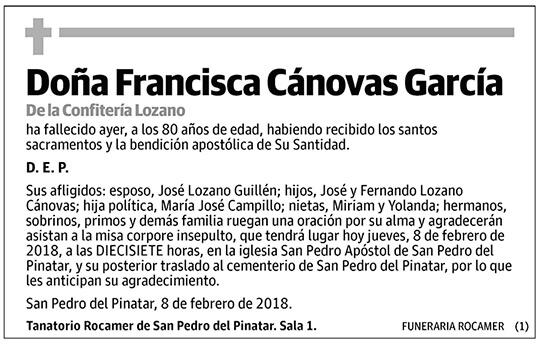 Francisca Cánovas García