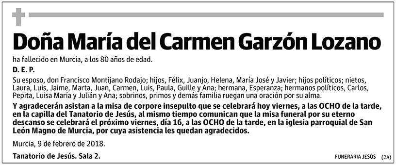 María del Carmen Garzón Lozano