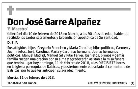 José Garre Alpañez